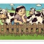 La vache qui regarde passer le train